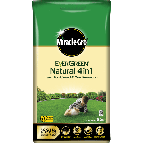 Miracle Gro Natural 4 in 1 Feed, Weed & Mosskiller 300sqm 104935
