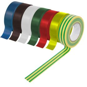 SupaLec PVC Insulation Tapes Green & Yellow 5 Metre Pack 10 703391