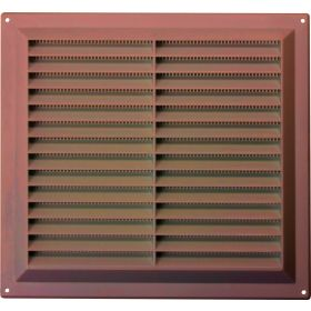 """Map Brown Louvred Vent (with Fixed Flyscreen) Opening Size: 9"""" x 9"""" - 229 x 229mm 376382"""