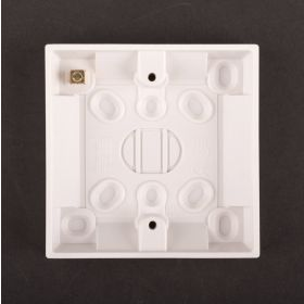 Dencon 16mm Plastic Box for Switches Pack 5 573297