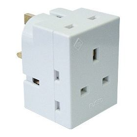 Securlec 13A, 3 Way Multiplug Fused 13A to BS1363/3 Pack of 10 339088