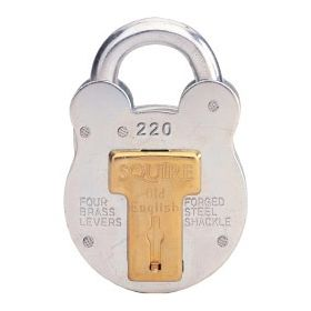 Squire 4-Lever Galvanised Steel - Old English Padlock 38mm 463888