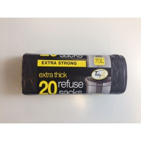 Tidyz Refuse Sack Extra Thick Roll of 20 641079