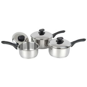 Pendeford Stainless Steel Collection Sauce Pan Set 3 Piece 658218