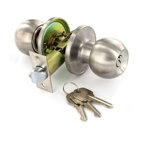 Securit Stainless Steel Entrance Lock Set with 3 Keys 60mm/70mm 598956