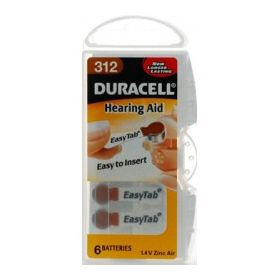 Duracell Hearing Aid Battery - 312 Pack 6 316431