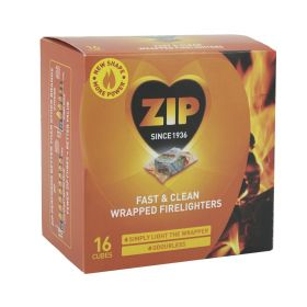 Zip Fast & Clean Wrapped Firelighters Pack 16 325230