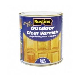 Rustins Quick Dry Outdoor Clear Varnish Satin 500ml 145260