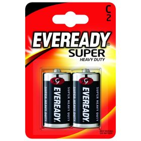 Eveready Super Heavy Duty Batteries C Pack 2 318556