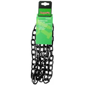SupaFix Welded Link Chain 2m Steel Electro Plated Black 5x21mm 319658