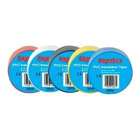 SupaLec PVC Insulation Tapes Assorted 5 Metre Pack 10 358448