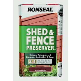 Ronseal Shed & Fence Preserver 5L Autumn Brown 347486