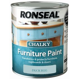 Ronseal Chalky Furniture Paint 750ml Duck Egg 348404