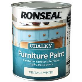 Ronseal Chalky Furniture Paint 750ml Vintage White 348399