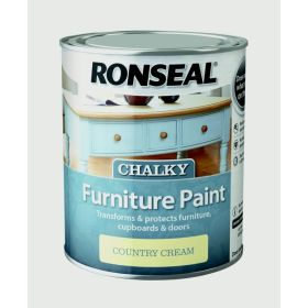 Ronseal Chalky Furniture Paint 750ml Country Cream 348401