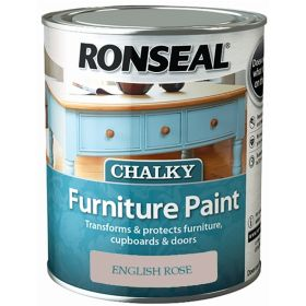 Ronseal Chalky Furniture Paint 750ml English Rose 348402