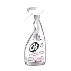 Cif Stainless Steel & Glass Cleaner 750ml 356004