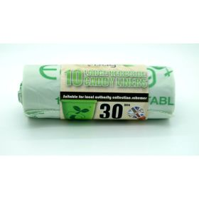 Ecobag Compostable Kerbside Caddy Liners 30L 356475