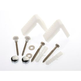 Make Angled Toilet Pan Fixing Kit With Caps 362860