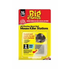 The Big Cheese Mouse Killer Stations Twin pack 367300