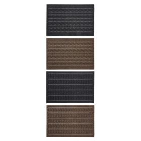 JVL Knit Indoor Mat 40x60cm Charcoal Cable, Brown Cable, Charcoal Braided or Brown Braided 368042