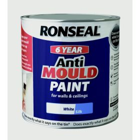 Ronseal 6 Year Anti Mould Paint 2.5L White Silk 372021