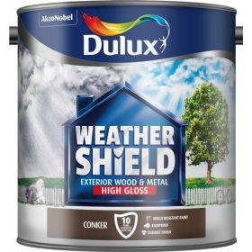 Dulux Weathershield Exterior Gloss 2.5L Conker 446254