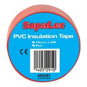 SupaLec PVC Insulation Tapes Red 5 Metre Pack 10 405291
