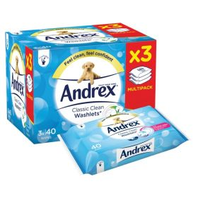 Andrex Classic Clean Washlets 3 Pack 377148
