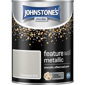 Johnstone's Feature Wall Metallic 1.25L Champagne Gold 377774