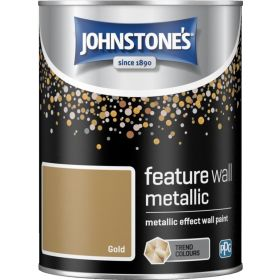 Johnstone's Feature Wall Metallic 1.25L Gold 377778