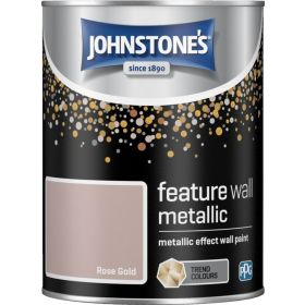 Johnstone's Feature Wall Metallic 1.25L Rose Gold 377775