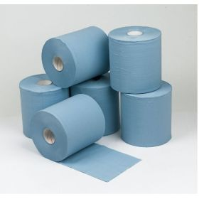 Concept 2 Ply Blue Centre Feed Rolls 150m x18.5cm Pack 6 424073
