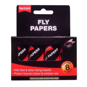 Rentokil Traditional Flypapers 8 Pack 103050