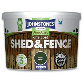 Johnstone's One Coat Shed And Fence 9L Forest Green