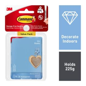 Command Clear Mini Hooks With Clear Strips 104339