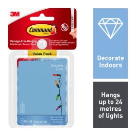 Command Clear Decorating Clips With Clear Strips Value Pack 104343