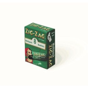 Zigzag Green Multi Pack 8 x 50 Sheets 104822