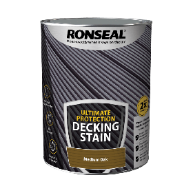 Ronseal Ultimate Protection Decking Stain 5L Medium Oak 104912