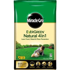 Miracle Gro Natural 4 in 1 Feed, Weed &  Mosskiller 175sqm 104934