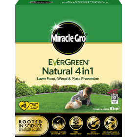 Miracle Gro Natural 4 in 1 Feed, Weed & Mosskiller 85sqm 104937