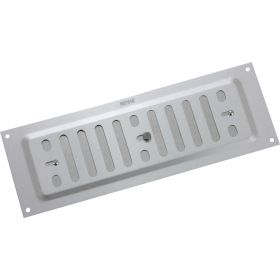 """Map Adjustable 'Hit & Miss' Aluminium Vents - Silver Opening Size: 9"""" x 3"""" - 229 x 76mm 448502"""