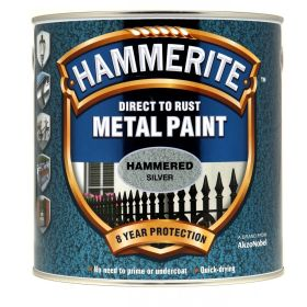 Hammerite Metal Paint Hammered 2.5L Silver 309412