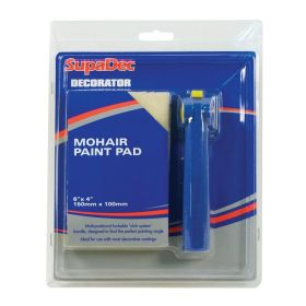 """SupaDec Decorator Mohair Paint Pad with Handle 6"""" x 4"""" /150mm x 100mm 508294"""