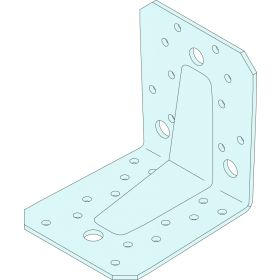 Simpson Strong Tie Heavy Duty Angle Bracket 90 mm x 105 mm x 105 mm - Thickness 3.0 mm 334210