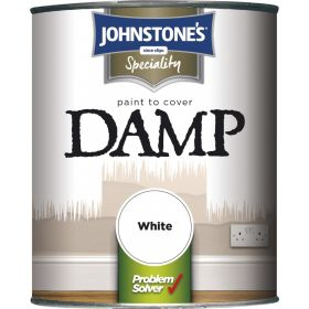 Johnstone's Paint To Cover Damp 750ml White 338193
