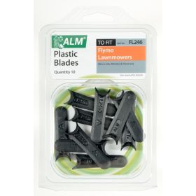 ALM Plastic Blades -  with Small Half-Moon Pack of 10 386487