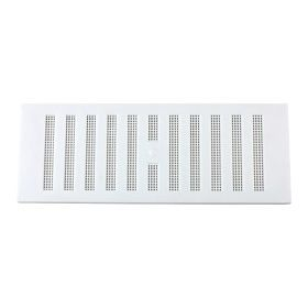"""Map White Adjustable 'Hit & Miss' Vent (with Fixed Flyscreen) Opening Size: 9"""" x 3"""" - 229 x 76mm 323358"""