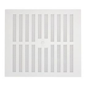 """Map White Adjustable 'Hit & Miss' Vent (with Fixed Flyscreen) Opening Size: 9"""" x 9"""" - 229 x 229mm 323387"""