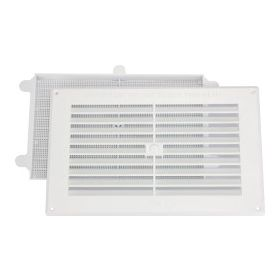 """Map White Louvred Vent (with Removable Flyscreen) Opening Size: 9"""" x 6"""" - 229 x 152mm 323630"""
